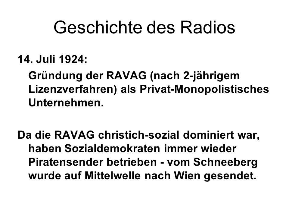 Geschichte des Radios 14. Juli 1924: