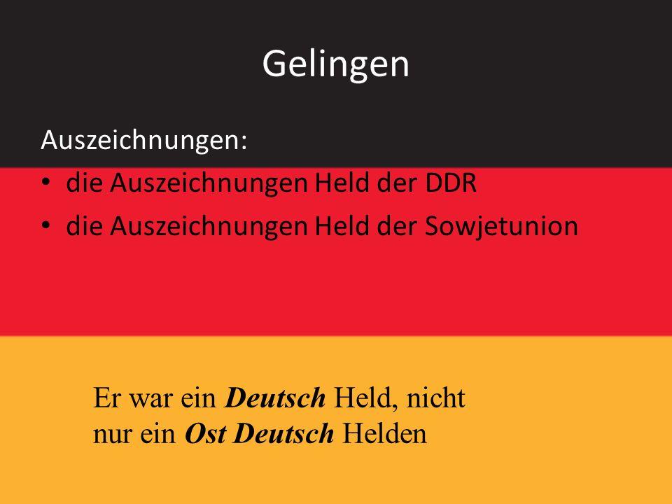 Gelingen Auszeichnungen: die Auszeichnungen Held der DDR