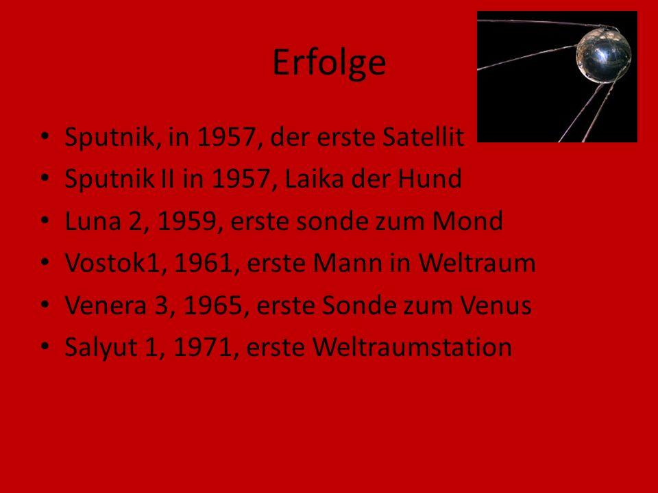 Erfolge Sputnik, in 1957, der erste Satellit