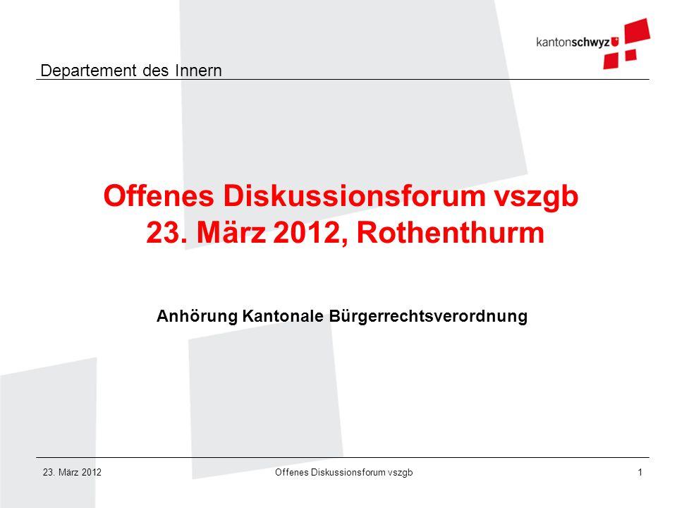 Offenes Diskussionsforum vszgb 23. März 2012, Rothenthurm
