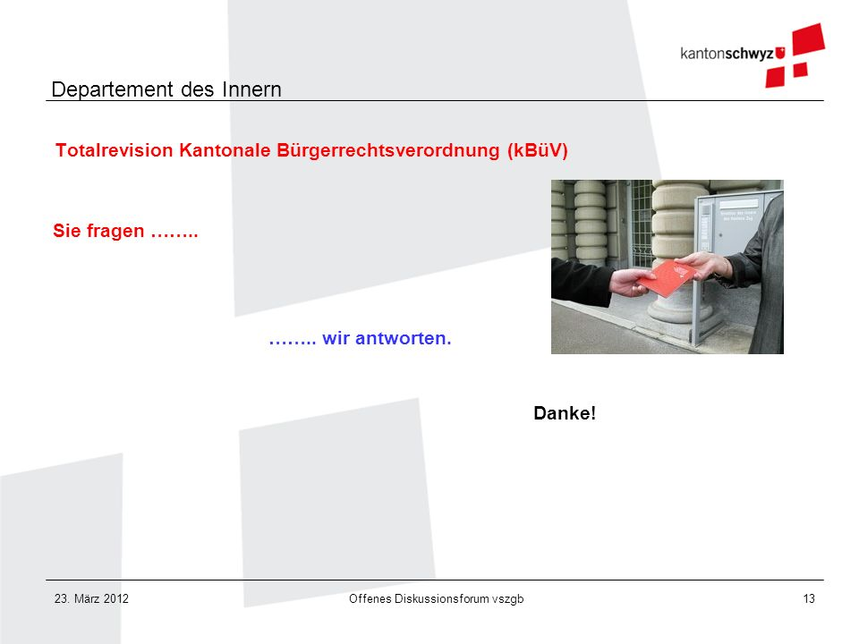 Totalrevision Kantonale Bürgerrechtsverordnung (kBüV)