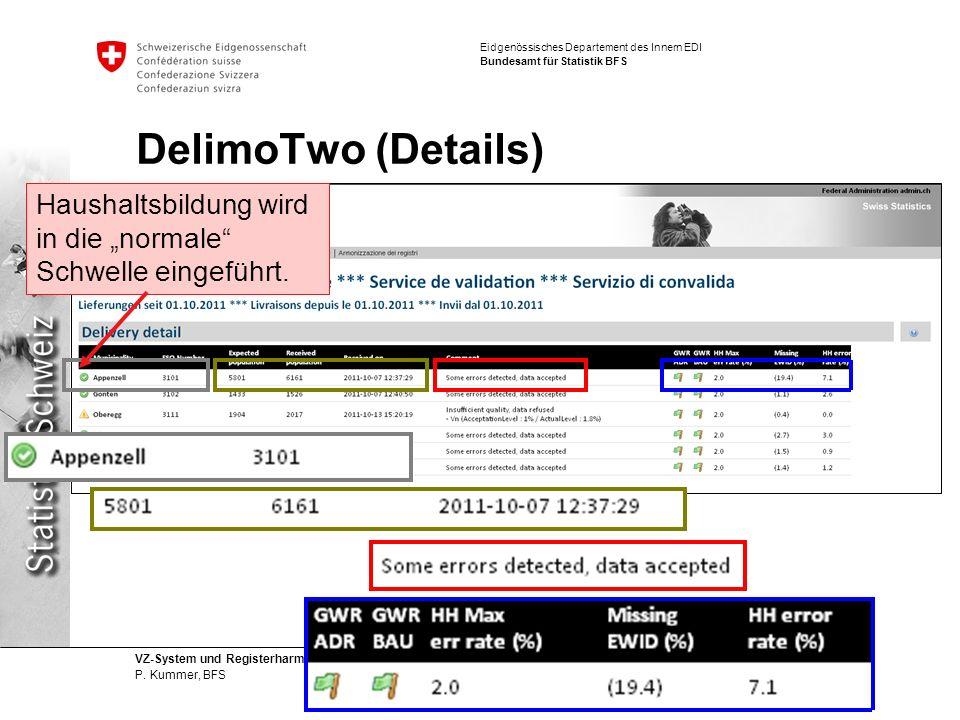 """DelimoTwo (Details) Haushaltsbildung wird in die """"normale Schwelle eingeführt."""