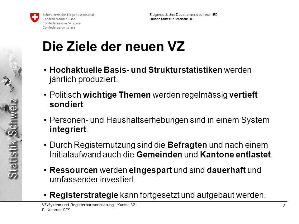 Die Ziele der neuen VZ Hochaktuelle Basis- und Strukturstatistiken werden jährlich produziert.