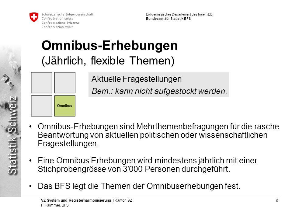 Omnibus-Erhebungen (Jährlich, flexible Themen)