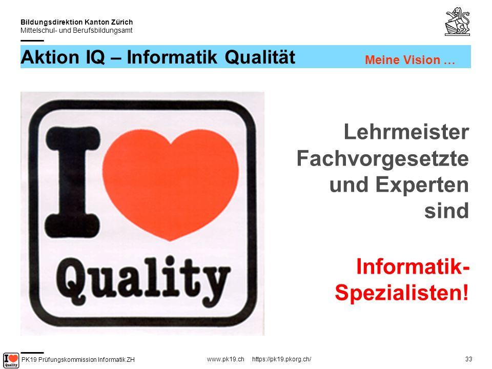 Aktion IQ – Informatik Qualität