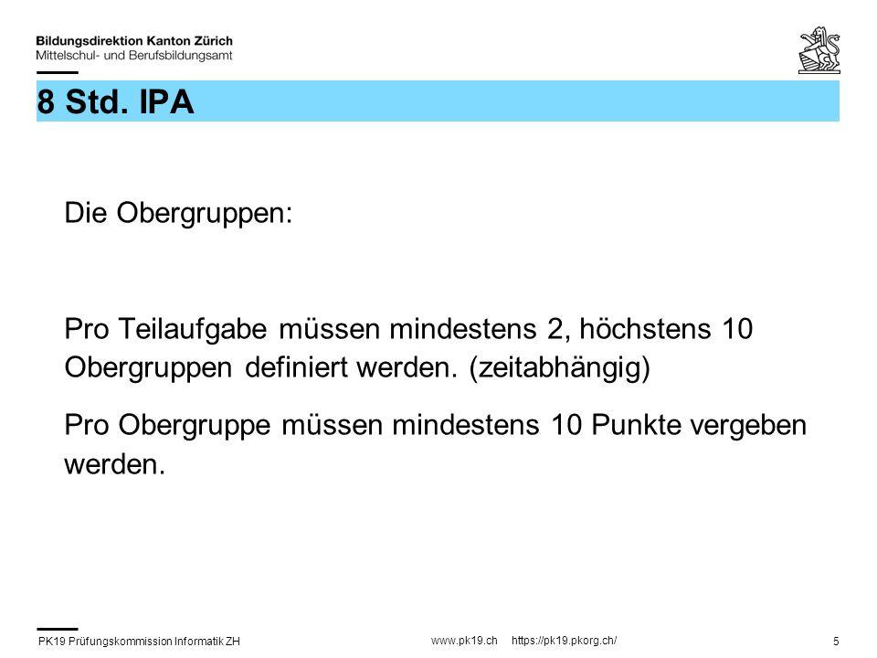 8 Std. IPA Die Obergruppen: