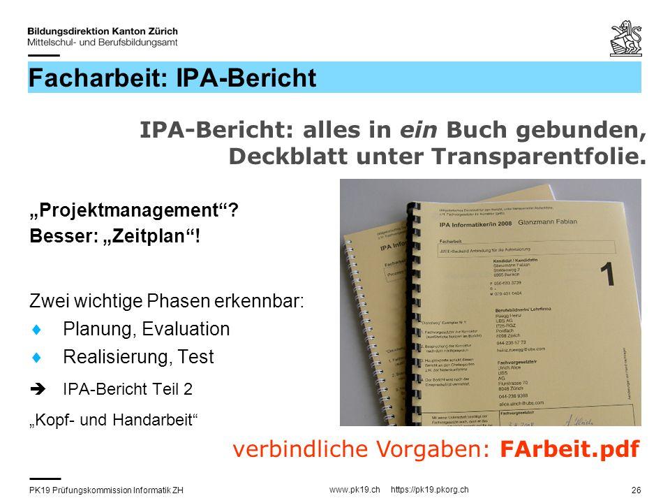 Facharbeit: IPA-Bericht