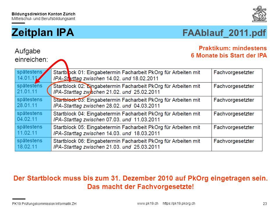 Zeitplan IPA FAAblauf_2011.pdf Aufgabe einreichen: