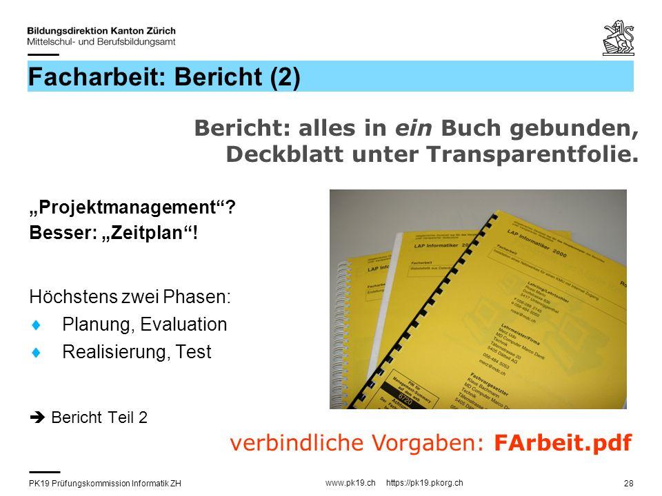 Facharbeit: Bericht (2)