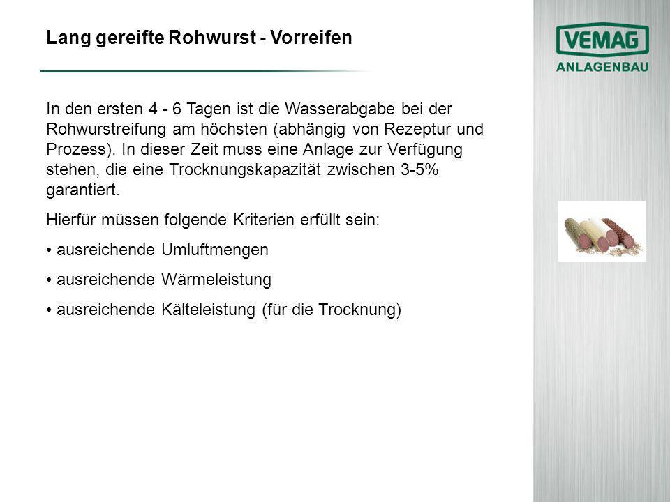 Lang gereifte Rohwurst - Vorreifen