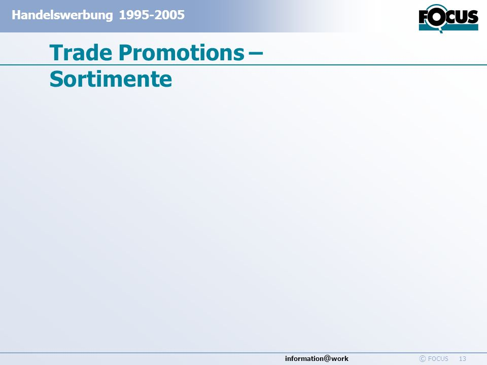 Trade Promotions – Sortimente