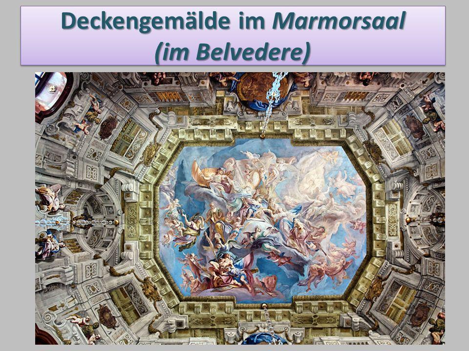 Deckengemälde im Marmorsaal (im Belvedere)