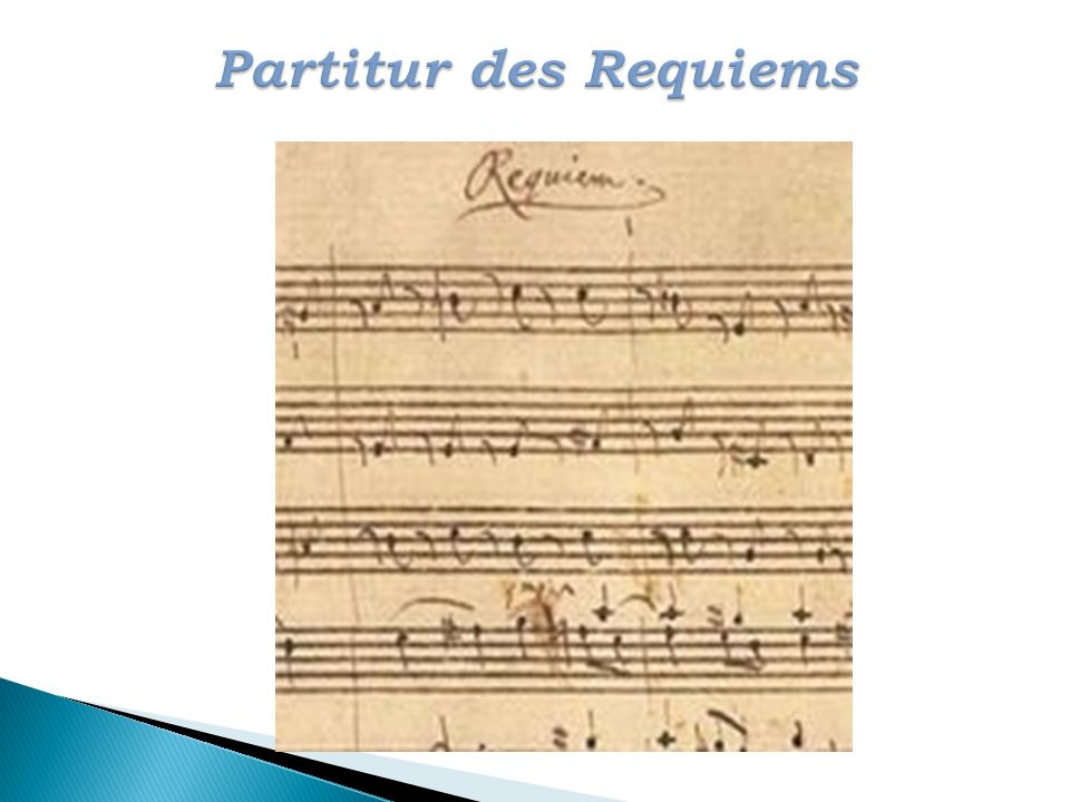 Partitur des Requiems