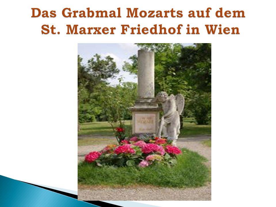Das Grabmal Mozarts auf dem St. Marxer Friedhof in Wien