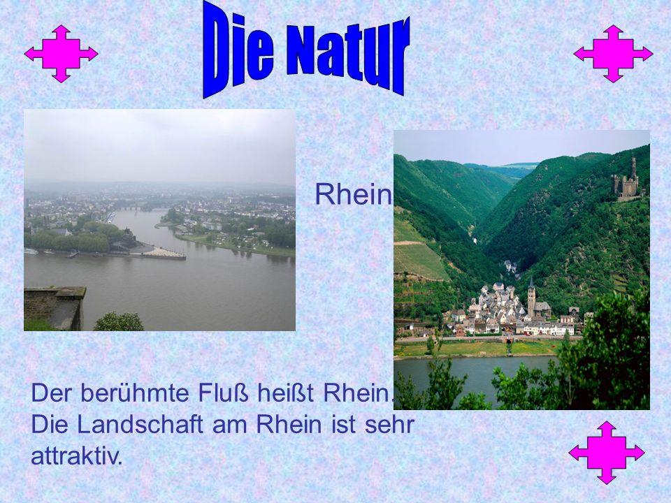 Die Natur Rhein Der berühmte Fluß heißt Rhein.