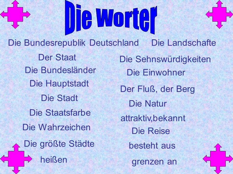 Die Worter Die Bundesrepublik Deutschland Die Landschafte Der Staat