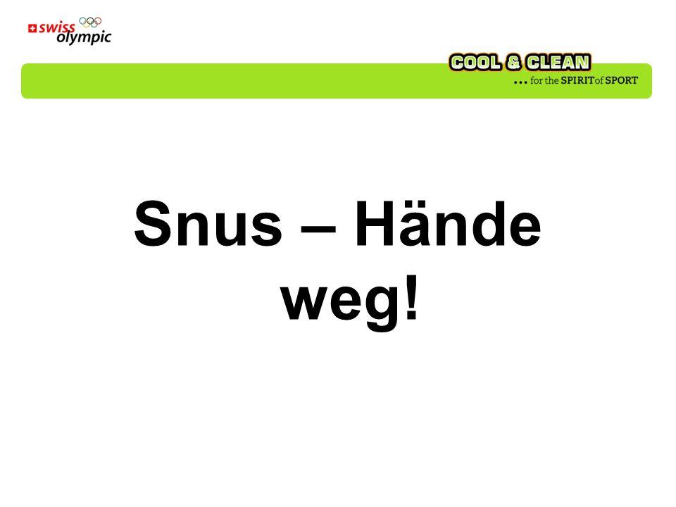 Snus – Hände weg!