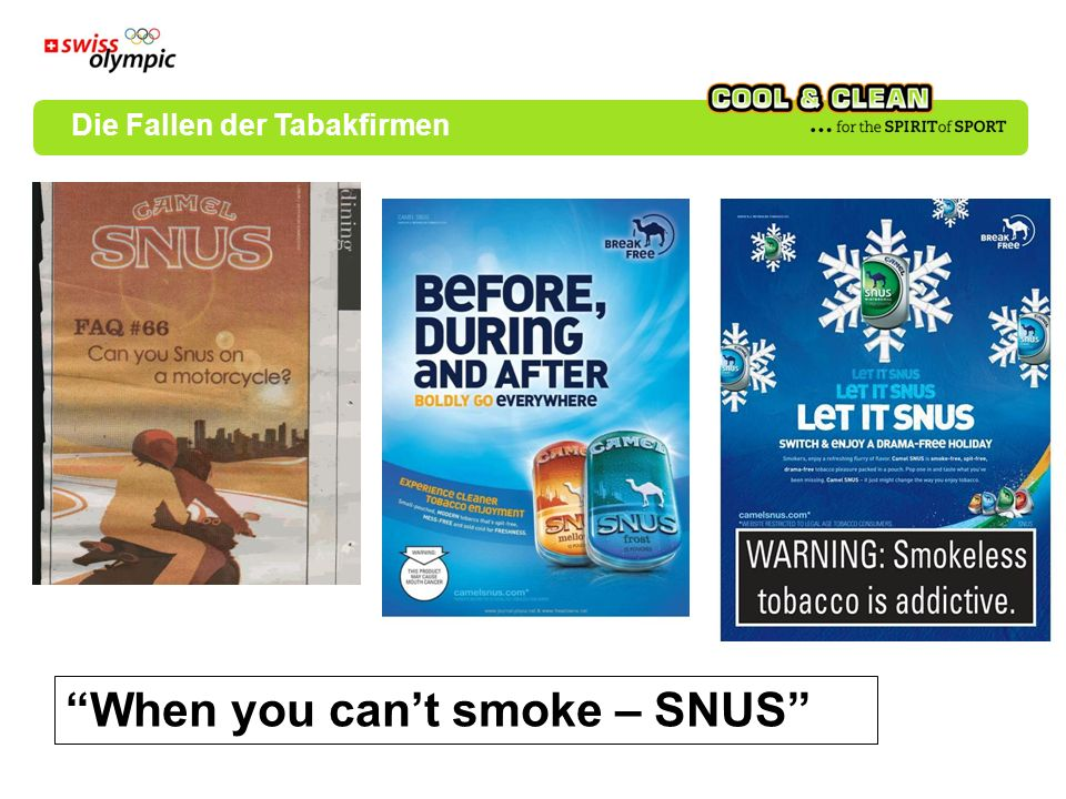 When you can't smoke – SNUS