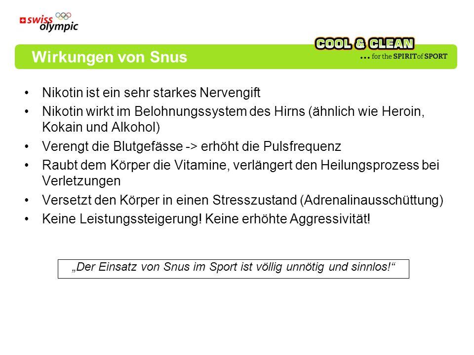 """""""Der Einsatz von Snus im Sport ist völlig unnötig und sinnlos!"""