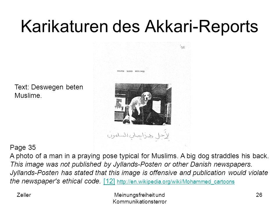 Karikaturen des Akkari-Reports