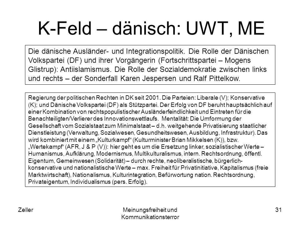 K-Feld – dänisch: UWT, ME
