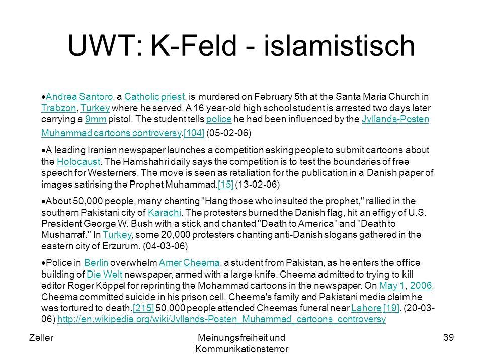 UWT: K-Feld - islamistisch