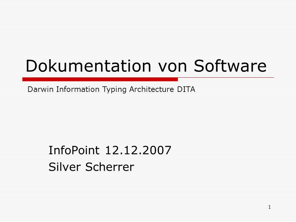 Dokumentation von Software