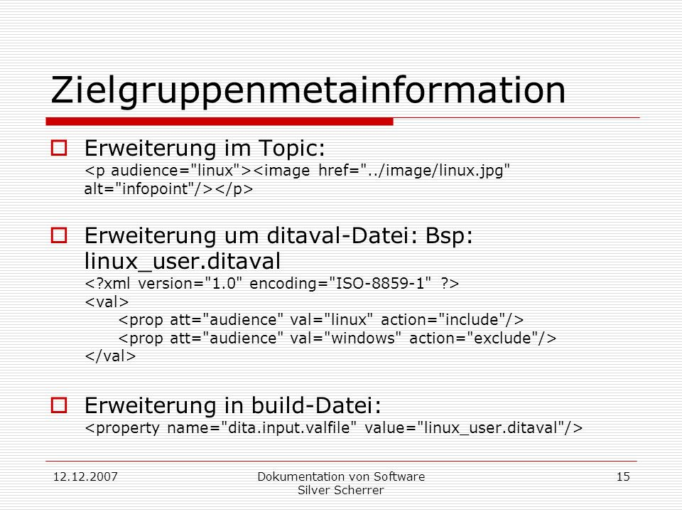 Zielgruppenmetainformation