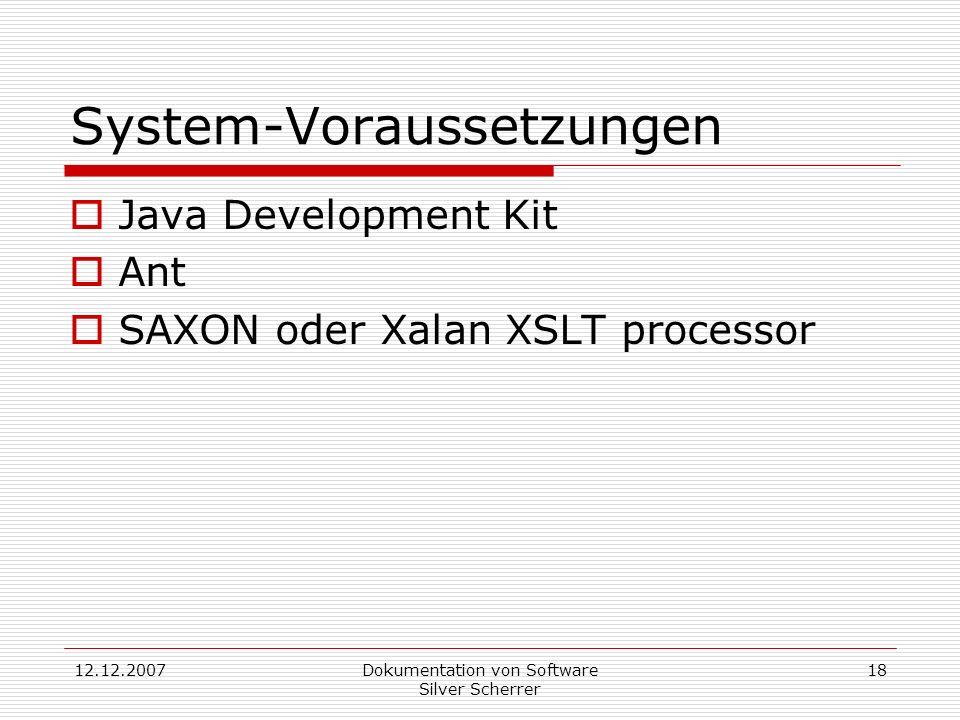 System-Voraussetzungen