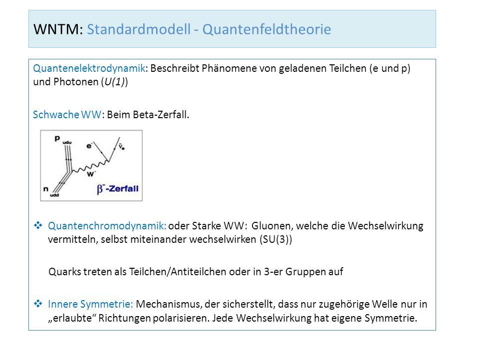WNTM: Standardmodell - Quantenfeldtheorie