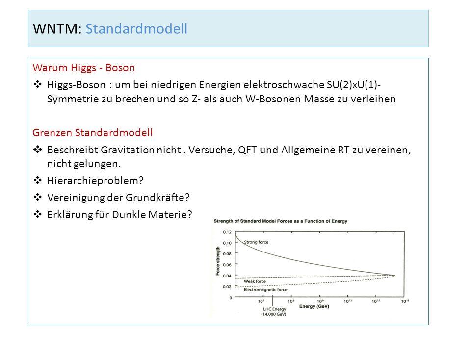 WNTM: Standardmodell Warum Higgs - Boson