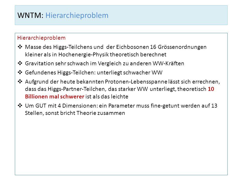WNTM: Hierarchieproblem