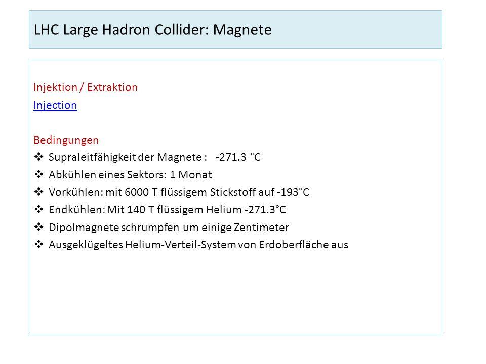 LHC Large Hadron Collider: Magnete