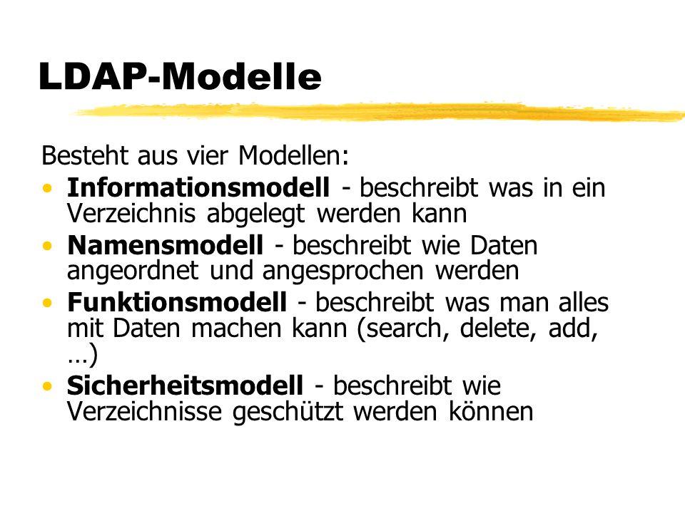 LDAP-Modelle Besteht aus vier Modellen: