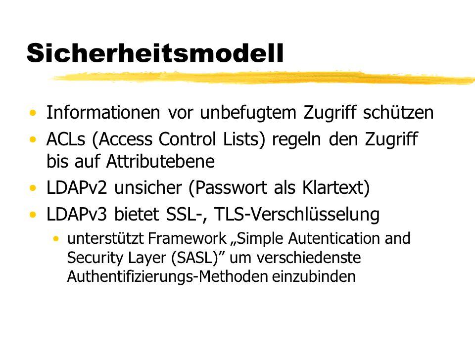 Sicherheitsmodell Informationen vor unbefugtem Zugriff schützen
