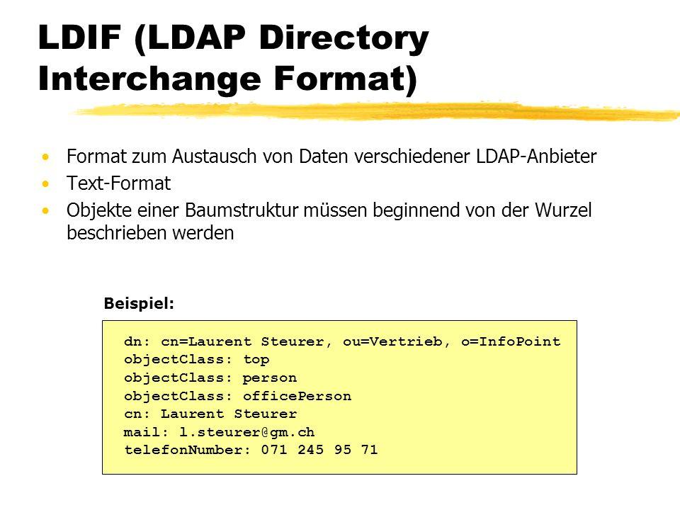 LDIF (LDAP Directory Interchange Format)