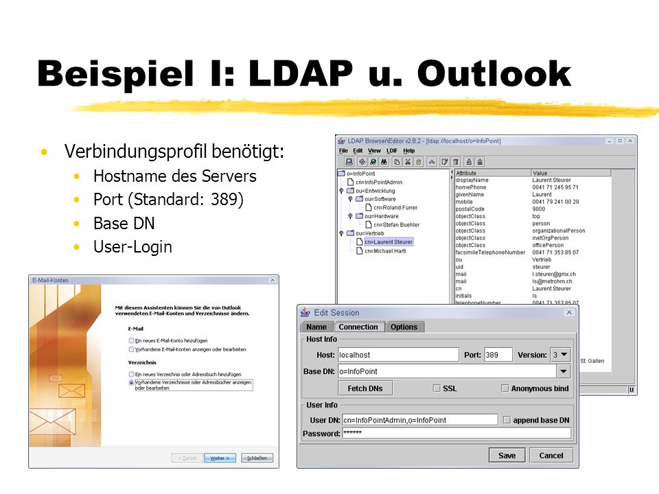 Beispiel I: LDAP u. Outlook