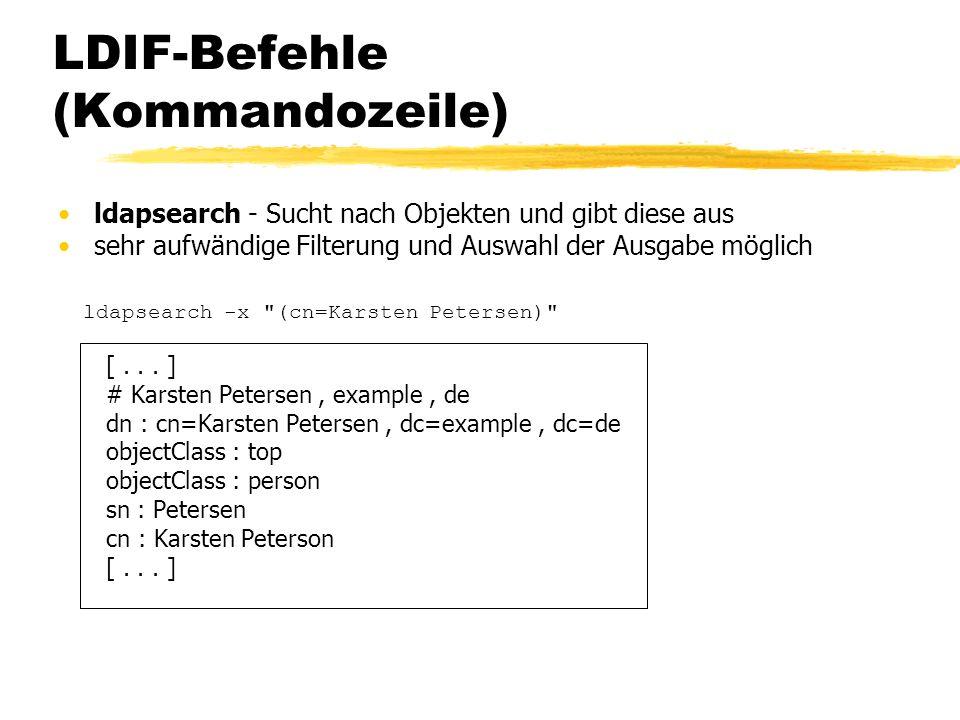 LDIF-Befehle (Kommandozeile)