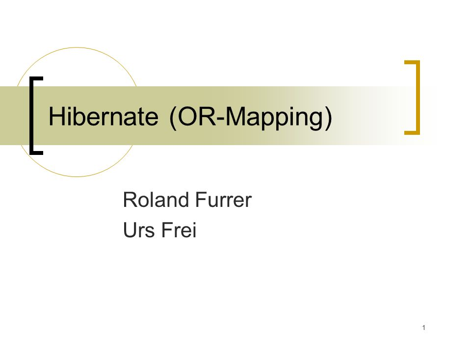 Hibernate (OR-Mapping)