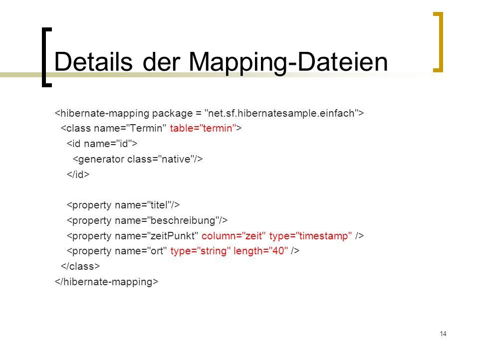 Details der Mapping-Dateien
