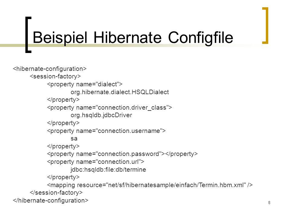 Beispiel Hibernate Configfile