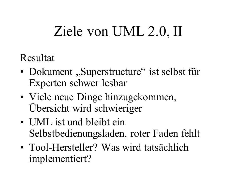 Ziele von UML 2.0, II Resultat