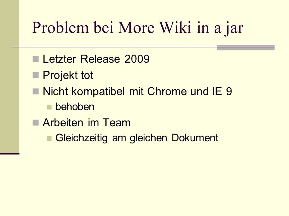 Problem bei More Wiki in a jar