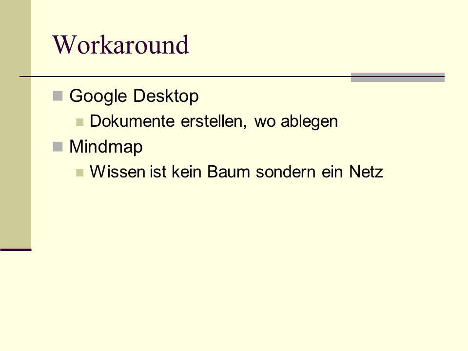 Workaround Google Desktop Mindmap Dokumente erstellen, wo ablegen