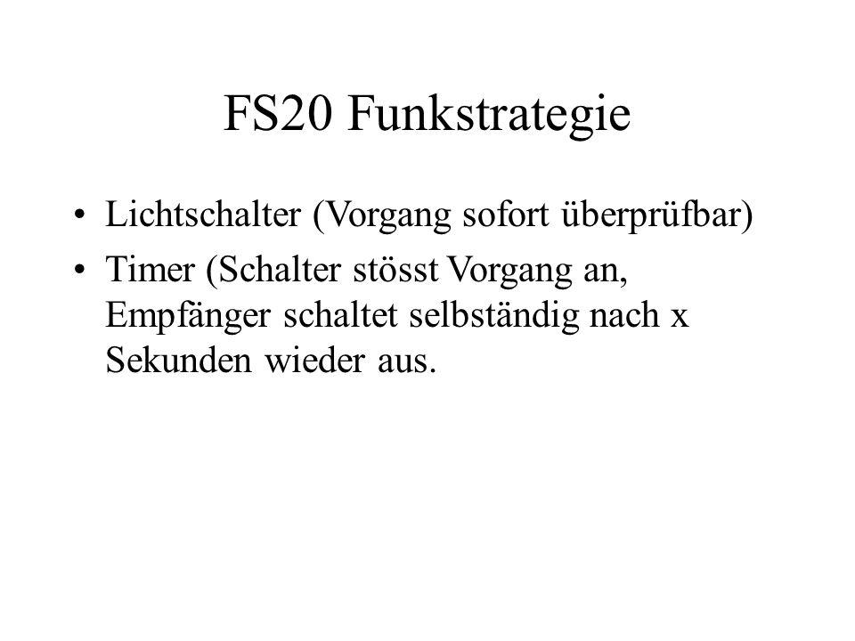 FS20 Funkstrategie Lichtschalter (Vorgang sofort überprüfbar)