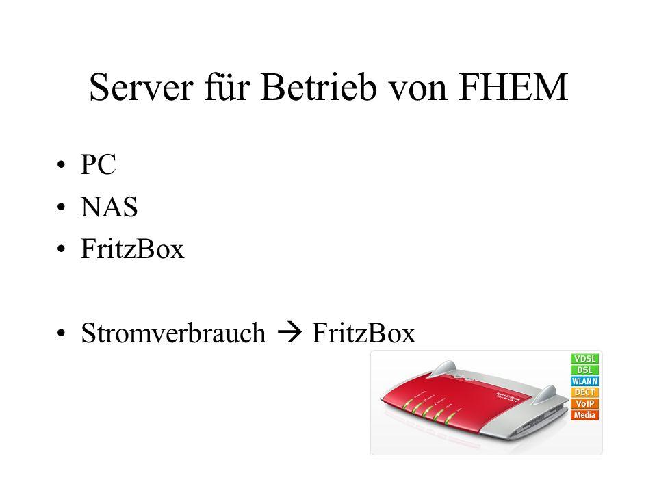 Server für Betrieb von FHEM