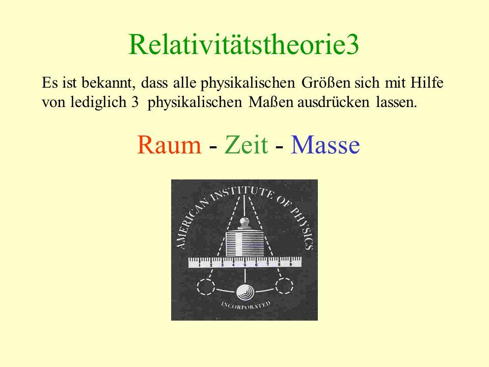 Relativitätstheorie3 Raum - Zeit - Masse