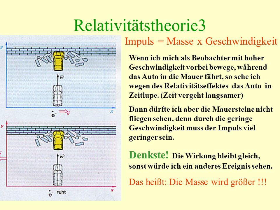 Relativitätstheorie3 Impuls = Masse x Geschwindigkeit