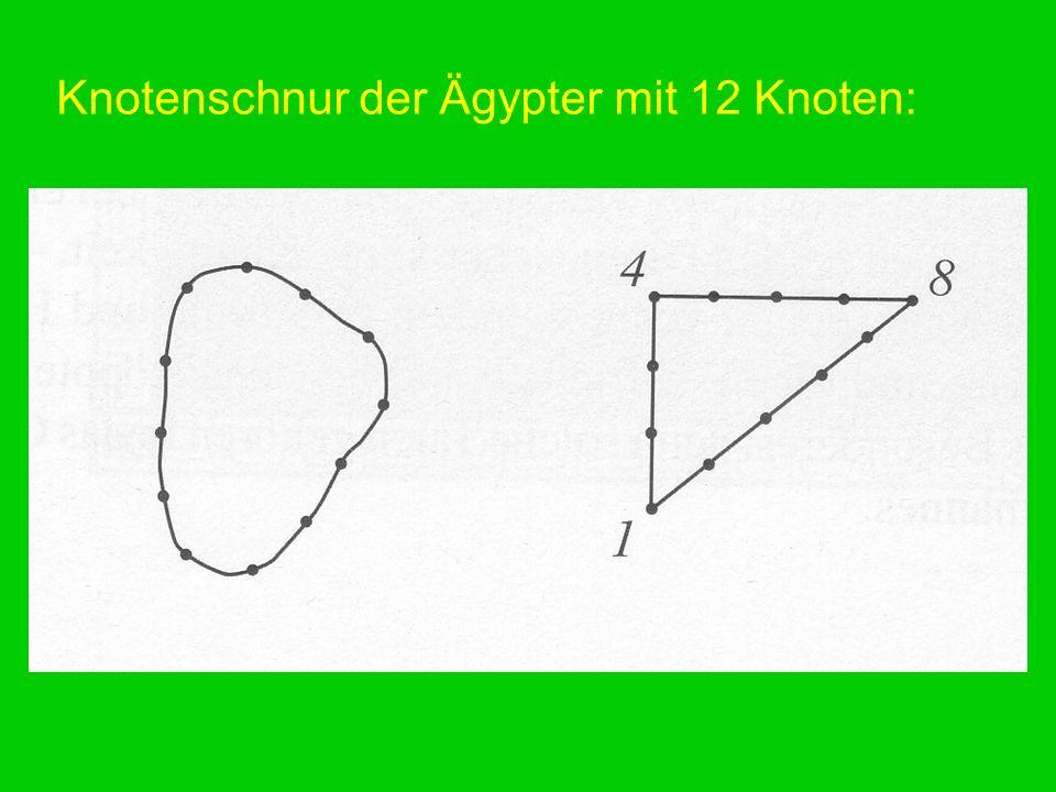 Knotenschnur der Ägypter mit 12 Knoten:
