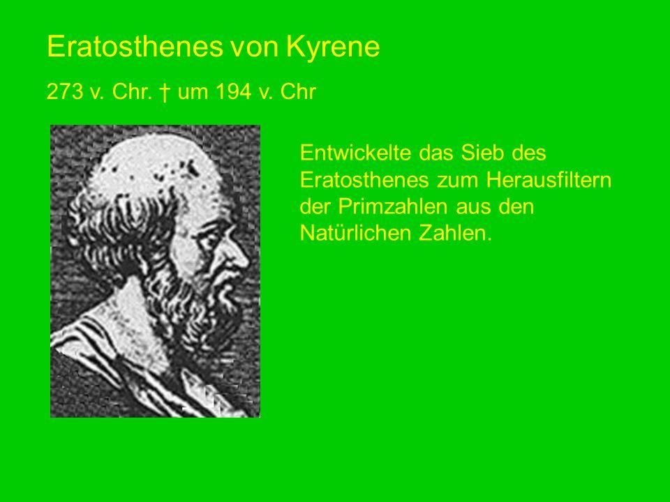 Eratosthenes von Kyrene